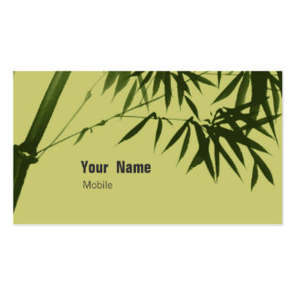 Bambú Tarjetas De Visita