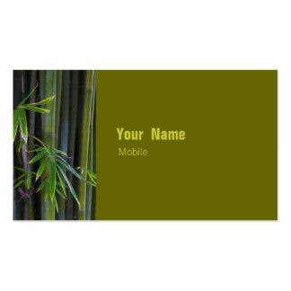 Bambú Tarjeta De Visita