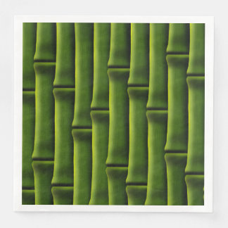 Bambú verde servilletas desechables