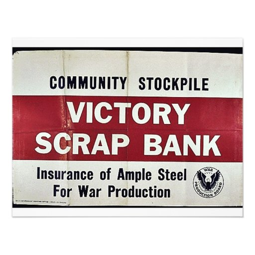 Banco del pedazo de la victoria anuncios
