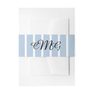 Banda azul y blanca elegante del Belly de la Cintas Para Invitaciones