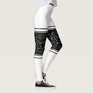 Banda blanca de la flexión leggings