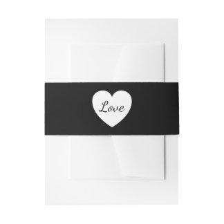 Banda blanco y negro de la invitación del boda del cintas para invitaciones