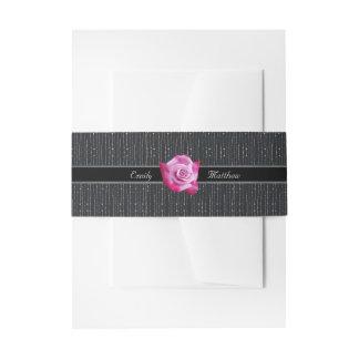 Banda color de rosa rosada del Belly del boda del Cintas Para Invitaciones