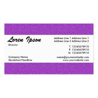 Banda de centro 012 - textura grabada en relieve tarjetas de visita