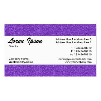 Banda de centro 020 - textura grabada en relieve tarjetas de visita
