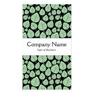 Banda de centro - hojas - verde del fantasma en plantilla de tarjeta de visita