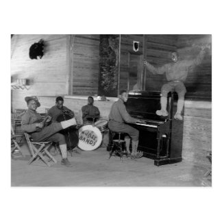 Banda de jazz, 1918 postal
