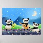 Banda de la panda - impresión del poster