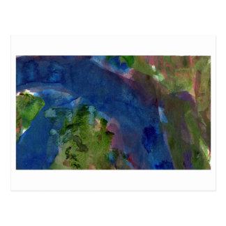 Banda de la postal abstracta azul