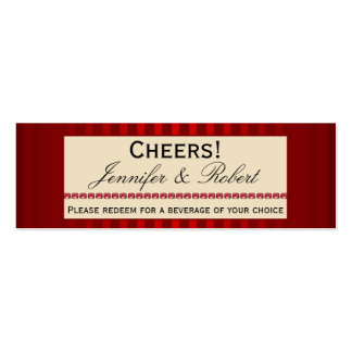 Banda de marfil de la raya roja con el boleto de l plantilla de tarjeta de visita