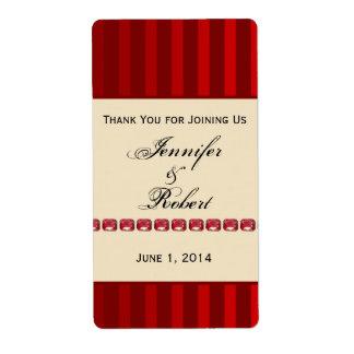 Banda de marfil de la raya roja con la etiqueta