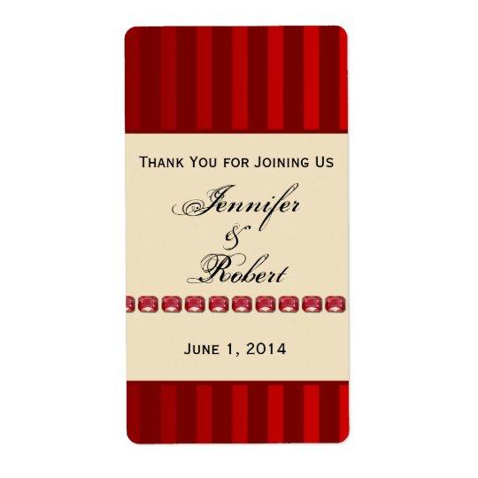 Banda de marfil de la raya roja con la etiqueta etiquetas de envío