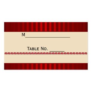 Banda de marfil de la raya roja con la tarjeta del tarjetas de visita
