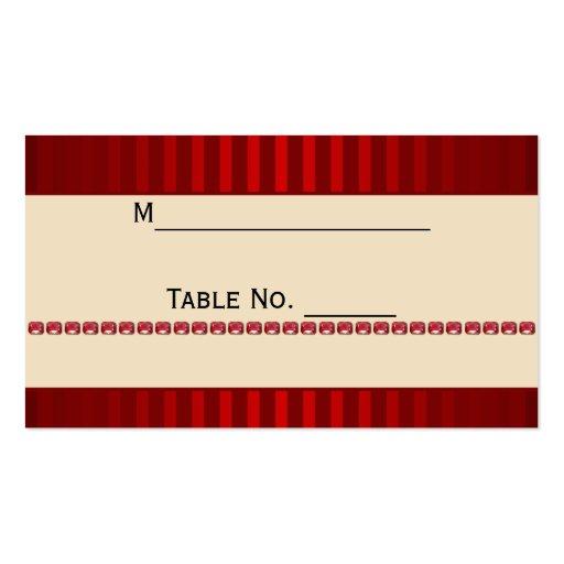 Banda de marfil de la raya roja con la tarjeta del tarjeta de negocio