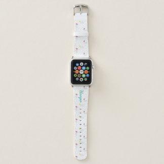 Banda de reloj blanca geométrica de Apple de los