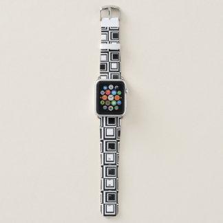 Banda de reloj blanca negra de Apple de la caja