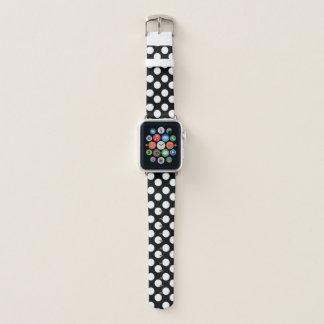 Banda de reloj blanco y negro de Apple del lunar