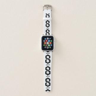 Banda de reloj de 8 bits monocromática minimalista