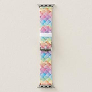 Banda de reloj de Apple de la sirena del arco iris