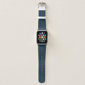 Banda de reloj de Apple de la tela escocesa del