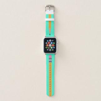 Banda de reloj de Apple de la turquesa del lápiz
