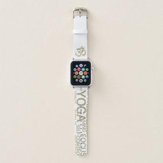 Banda de reloj de Apple de la yoga del purpurina