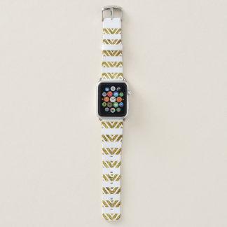 Banda de reloj de Apple del oro de la raya de