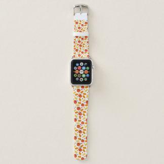 Banda de reloj de cuero de Apple de las calabazas