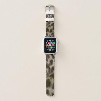 Banda de reloj de la piel del leopardo