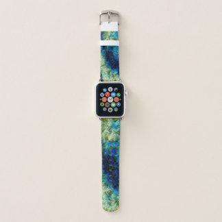 banda de reloj en colores pastel psicodélica de la