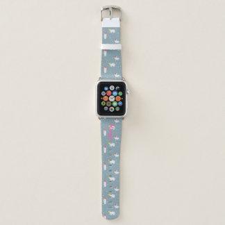 Banda de reloj gris geométrica de Apple de los