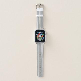 Banda de reloj gris y blanca de Apple del modelo