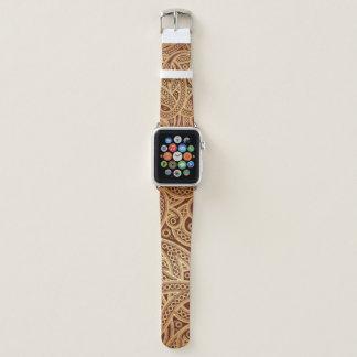 Banda de reloj marroquí de Paisley Apple del oro