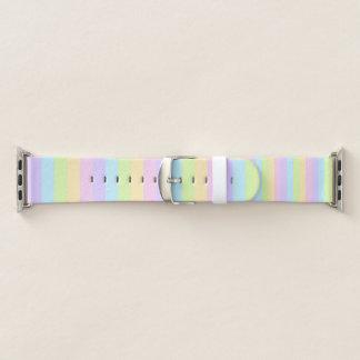 Banda de reloj rayada en colores pastel colorida