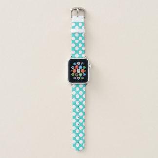 Banda de reloj verde azulada y blanca de Apple del