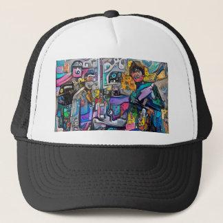 Banda de rock abstracta gorra de camionero