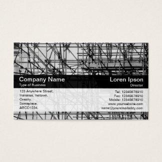 Banda del color - negro - andamio tarjeta de negocios
