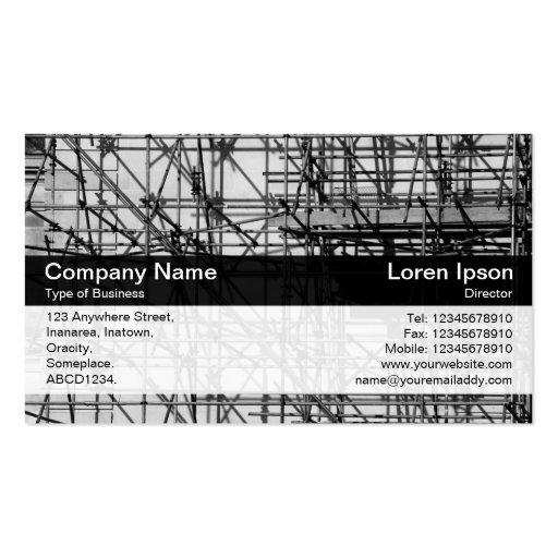 Banda del color - negro - andamio tarjetas de negocios