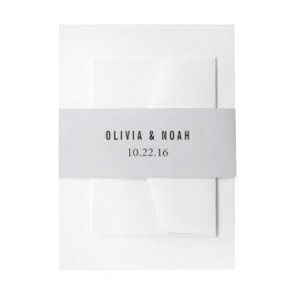 Banda elegante gris moderna del Belly de la Cintas Para Invitaciones