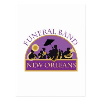 Banda fúnebre tarjeta postal