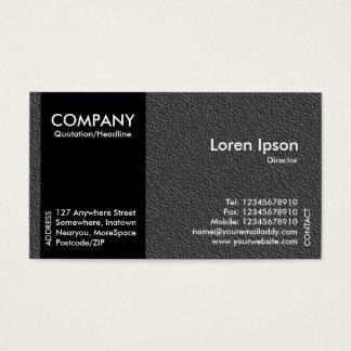 Banda lateral negro - textura grabada en relieve tarjeta de visita