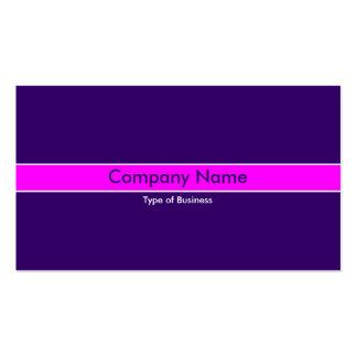 Banda magenta - de color violeta oscuro tarjetas de visita