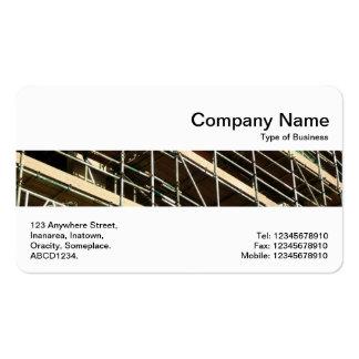 Banda media - andamio tarjetas de visita