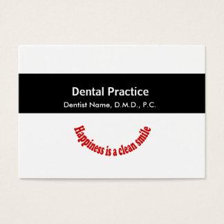 Banda media negra médica de la odontología de la tarjeta de negocios