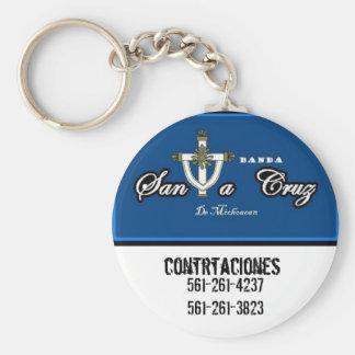 banda Santa Cruz logo2 561-261-4237 561-261-3… Llavero