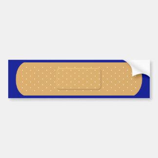 Bandaid para la pegatina para el parachoques azul