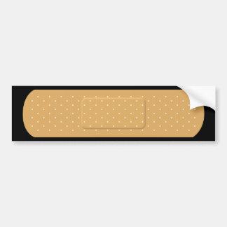 Bandaid para la pegatina para el parachoques negra