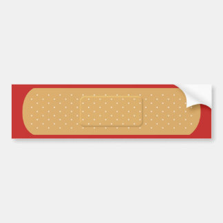 Bandaid para la pegatina para el parachoques roja