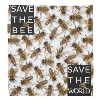 Bandana ¡Ahorre la abeja! ¡Ahorre el mundo! Abeja